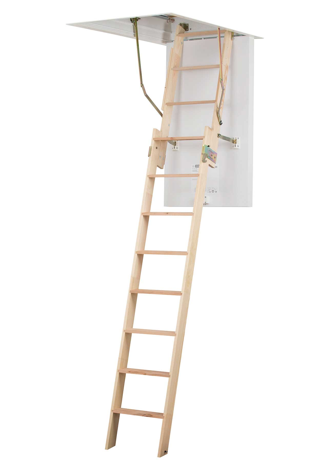 clickfix loft ladder with 2 section ladder