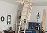 Traditionel loft ladder without insulation