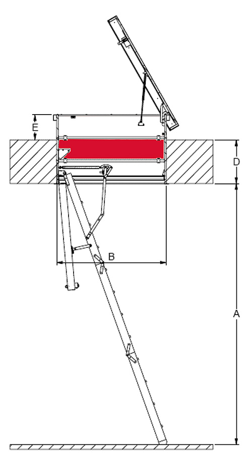 drawing of roof hatch