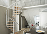 spiral staircase Montreal classic 3 in grey for indoor use