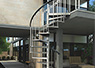 spiral staircase for outdoor use in steel