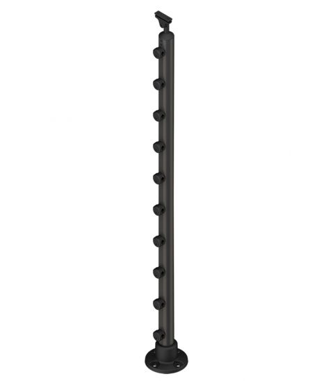 Banister single post PROVA 10 anthracite