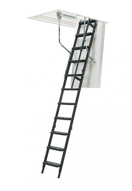 loft ladder clickfix thermo comfort with steel ladder