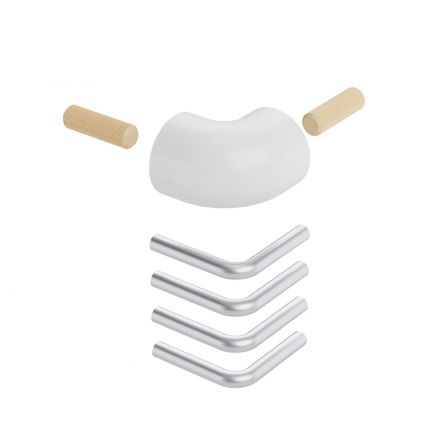 Landing banister corner kit BOSTON white
